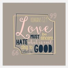 Love Bible Verse 5.25 x 5.25 Flat Cards