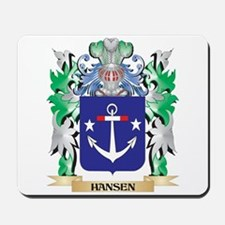 Hansen- Coat of Arms (Family Crest) Mousepad