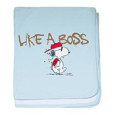 Peanuts Snoopy Like A Boss baby blanket