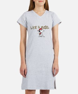Peanuts Snoopy Like A Boss Women's Nightshirt