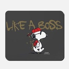 Peanuts Snoopy Like A Boss Mousepad