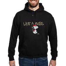 Peanuts Snoopy Like A Boss Hoodie (dark)