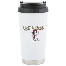 Peanuts Snoopy Like A B Travel Coffee Mug