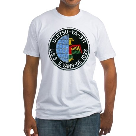 USS EVANS Fitted T-Shirt