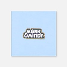 "Mork and Mindy Logo Square Sticker 3"" x 3"""