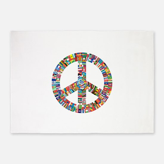 Peace to All 5'x7'Area Rug