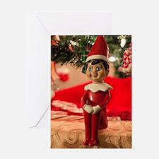 Unique Santas helper Greeting Card