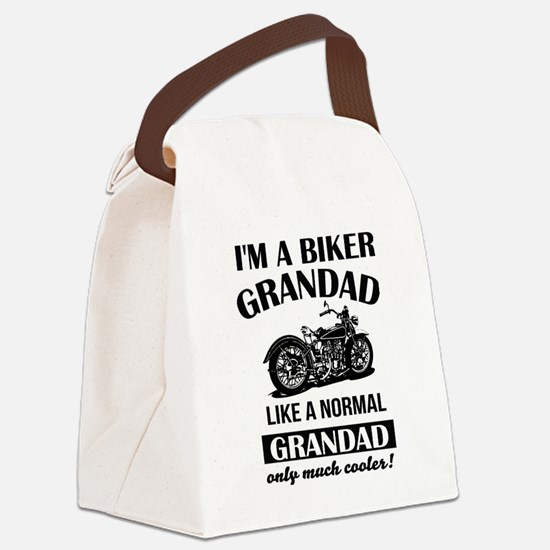 Cute Biker Canvas Lunch Bag