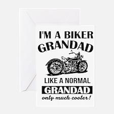 Unique Biker dad Greeting Card