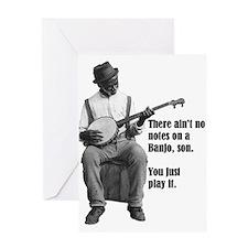Cute Banjo player Greeting Card