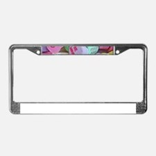 Candy Hearts License Plate Frame
