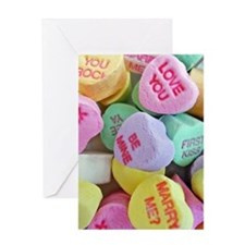 Candy Hearts Greeting Cards