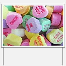 Candy Hearts Yard Sign
