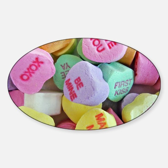 Candy Hearts Decal