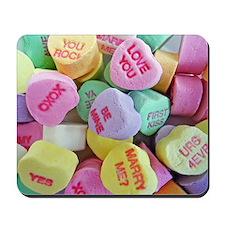 Candy Hearts Mousepad