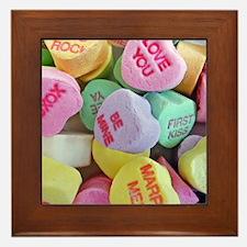 Candy Hearts Framed Tile