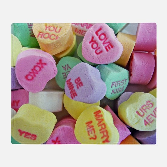 Candy Hearts Throw Blanket