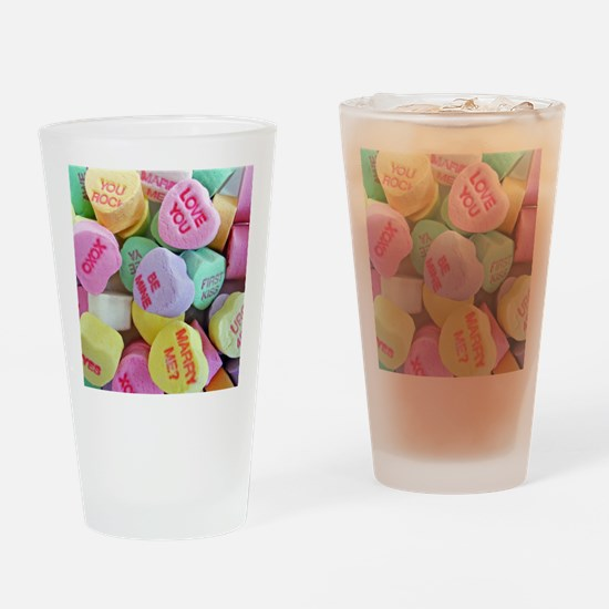 Candy Hearts Drinking Glass