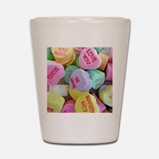 Candy Hearts Shot Glass