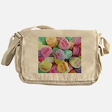 Candy Hearts Messenger Bag
