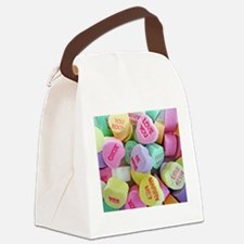 Candy Hearts Canvas Lunch Bag