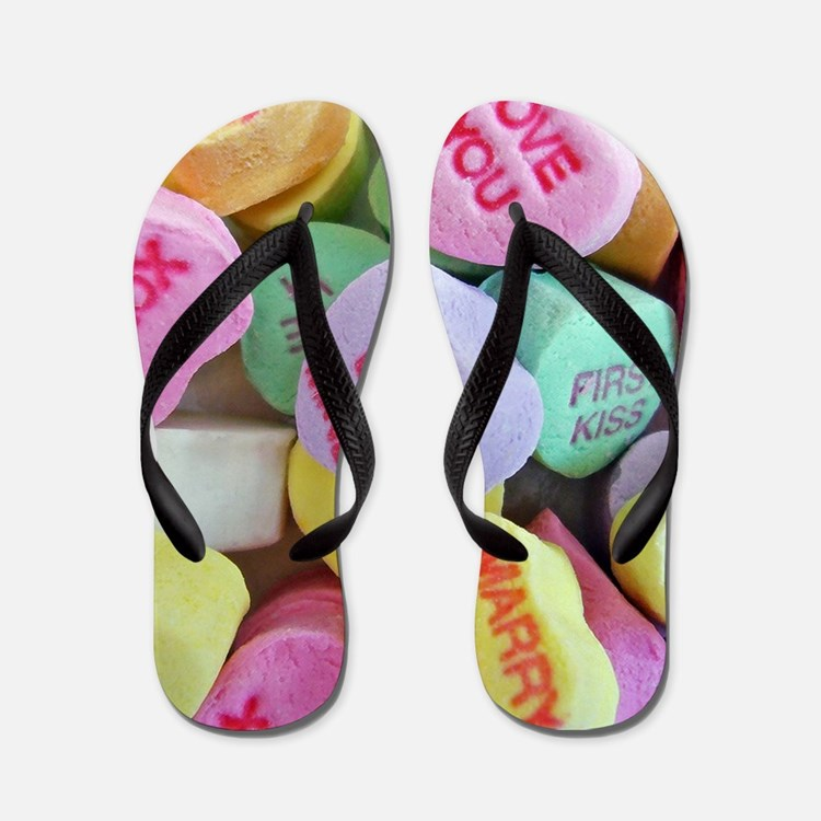 Candy Hearts Flip Flops