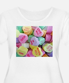 Candy Hearts Plus Size T-Shirt