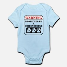 Warning Protected By A Goldendoodle Body Suit