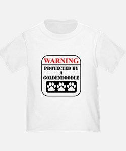 Warning Protected By A Goldendoodle T-Shirt