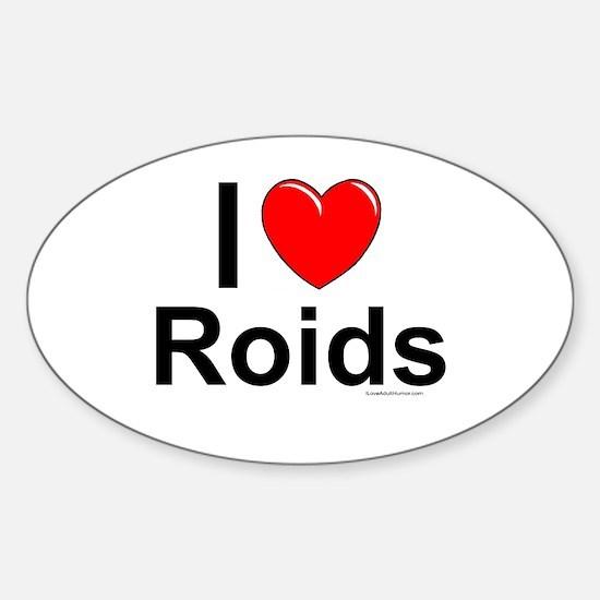 Roids Sticker (Oval)