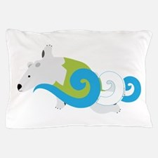 Polar Bear Swimmer Green Pillow Case