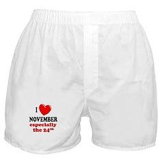 November 24th Boxer Shorts