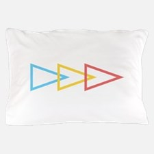 Blue Yellow Pink Triangles Arrow Pillow Case