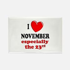 November 23rd Rectangle Magnet
