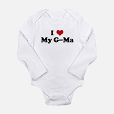 Cute I heart my nana Long Sleeve Infant Bodysuit