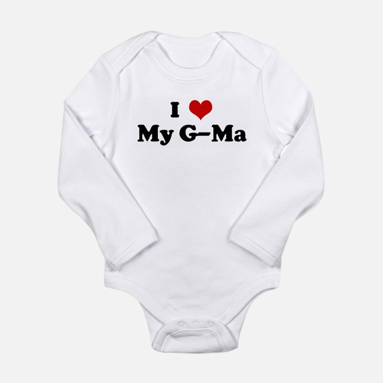 Cute I love my mutt Long Sleeve Infant Bodysuit