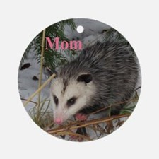 Opossum Round Ornament