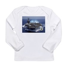 Cute Aircraft carrier Long Sleeve Infant T-Shirt
