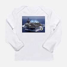 Uss kennedy Long Sleeve Infant T-Shirt