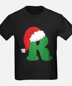 Funny Christmas letter a alphabet womens T