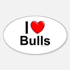 Bulls Sticker (Oval)