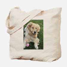 frisky golden retriver Tote Bag