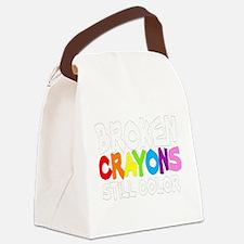 BROKEN CRAYONS STILL COLOR Canvas Lunch Bag