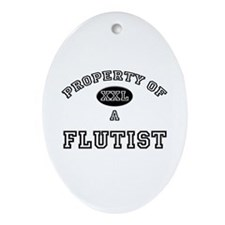 Property of a Flutist Oval Ornament