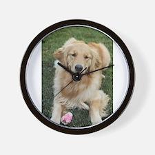 Nala the golden retroever dog Wall Clock