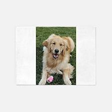 Nala the golden retroever dog 5'x7'Area Rug