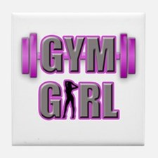 Gym Girl Design 3 Tile Coaster