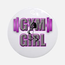 Gym Girl Design 4 Round Ornament