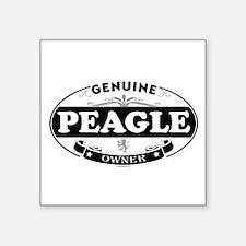 """Unique Peagle Square Sticker 3"""" x 3"""""""