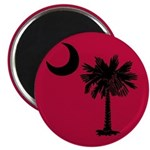 Black and Garnet South Carolina Flag Magnet